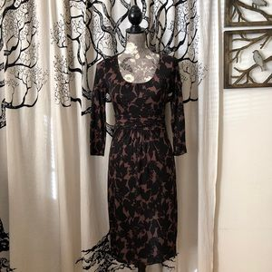 Boden Floral Ruched Waist Jersey Dress - NWOT